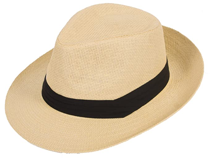 DRY77 Summer Cool Outback Panama Wide Large Brim Fedora Straw Hat Men  Women 2b8c1af2ba16