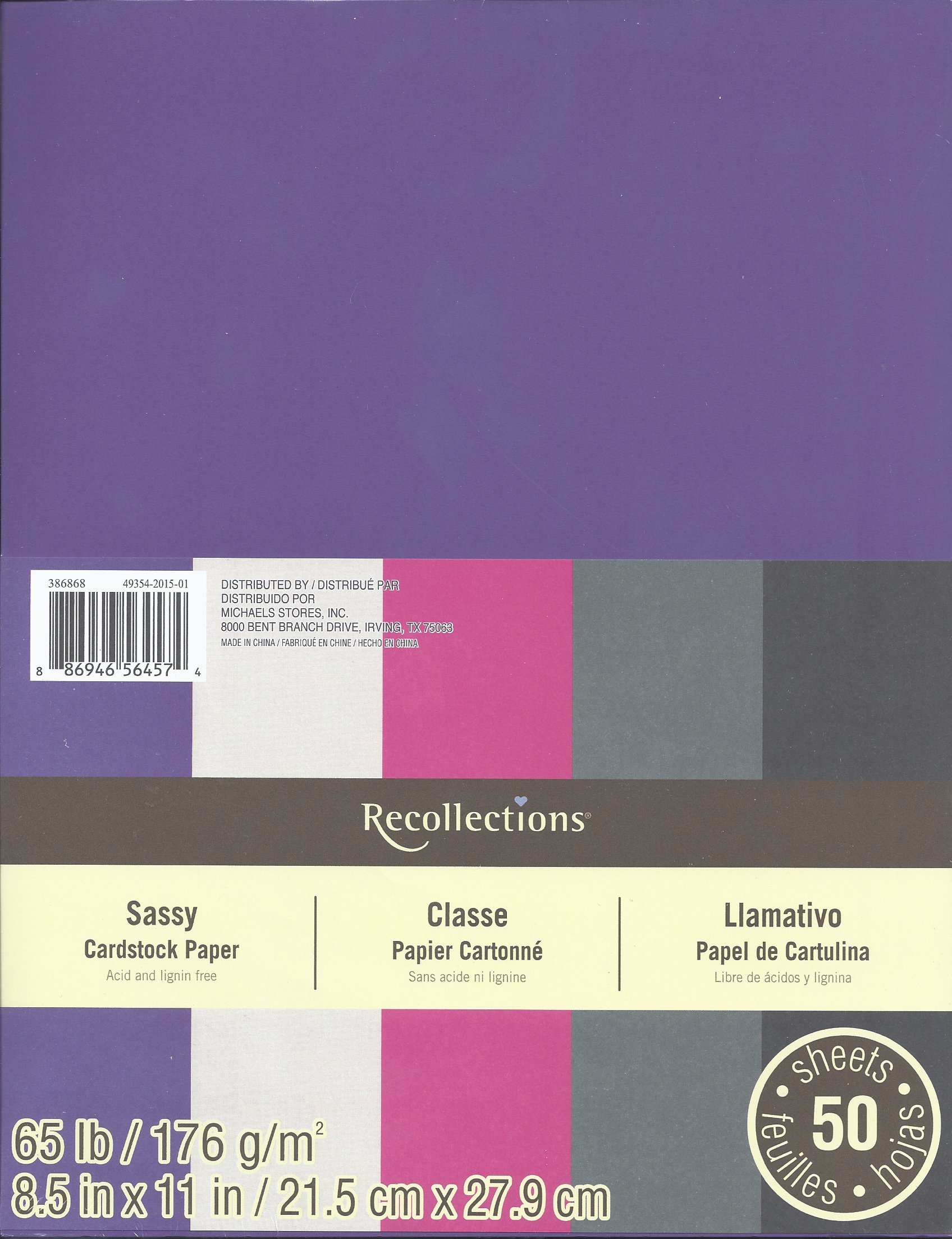 Recollections Cardstock Paper, 8 1/2'' x 11'' Sassy