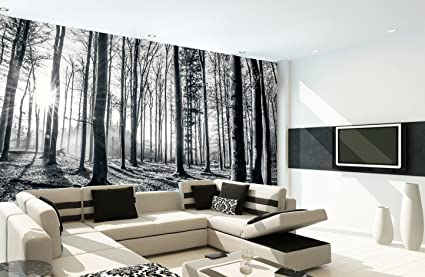 1wall black and white nature forest wall mural 3 15 x 2 32m, wood, 1image unavailable image not available for