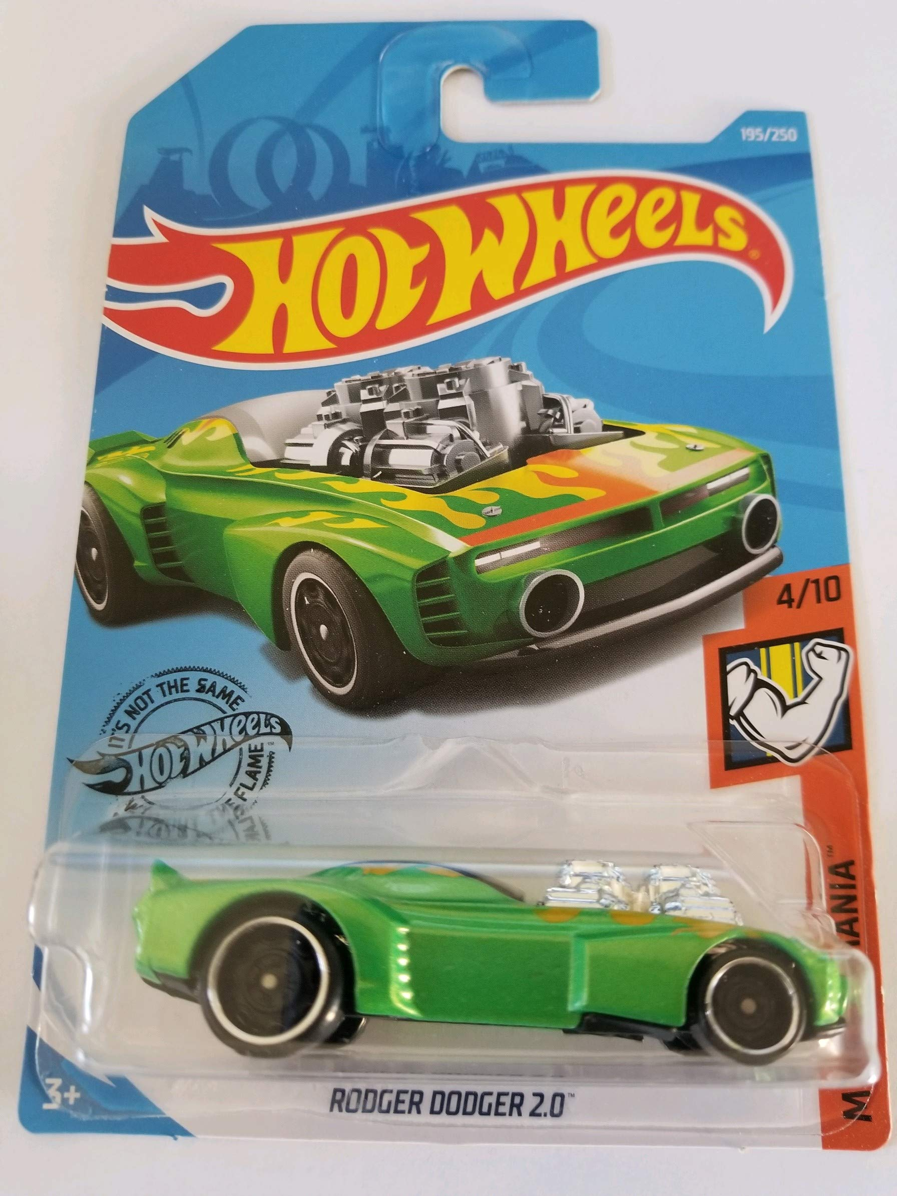 Hot Wheels 2019 Muscle Mania Rodger Dodger 2.0, 195/250 Verde