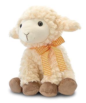 Keel Toys peluche de oveja, de cordero de peluche con lazo, de peluche sentado