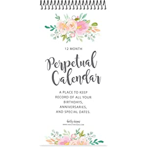 Amazon Com Floral Perpetual Birthday Anniversary Special Event