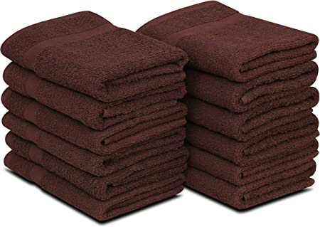 GOLD TEXTILES 20X40 100/% Cotton Economy Bath Towels Light weight Soft /&Quick Dry
