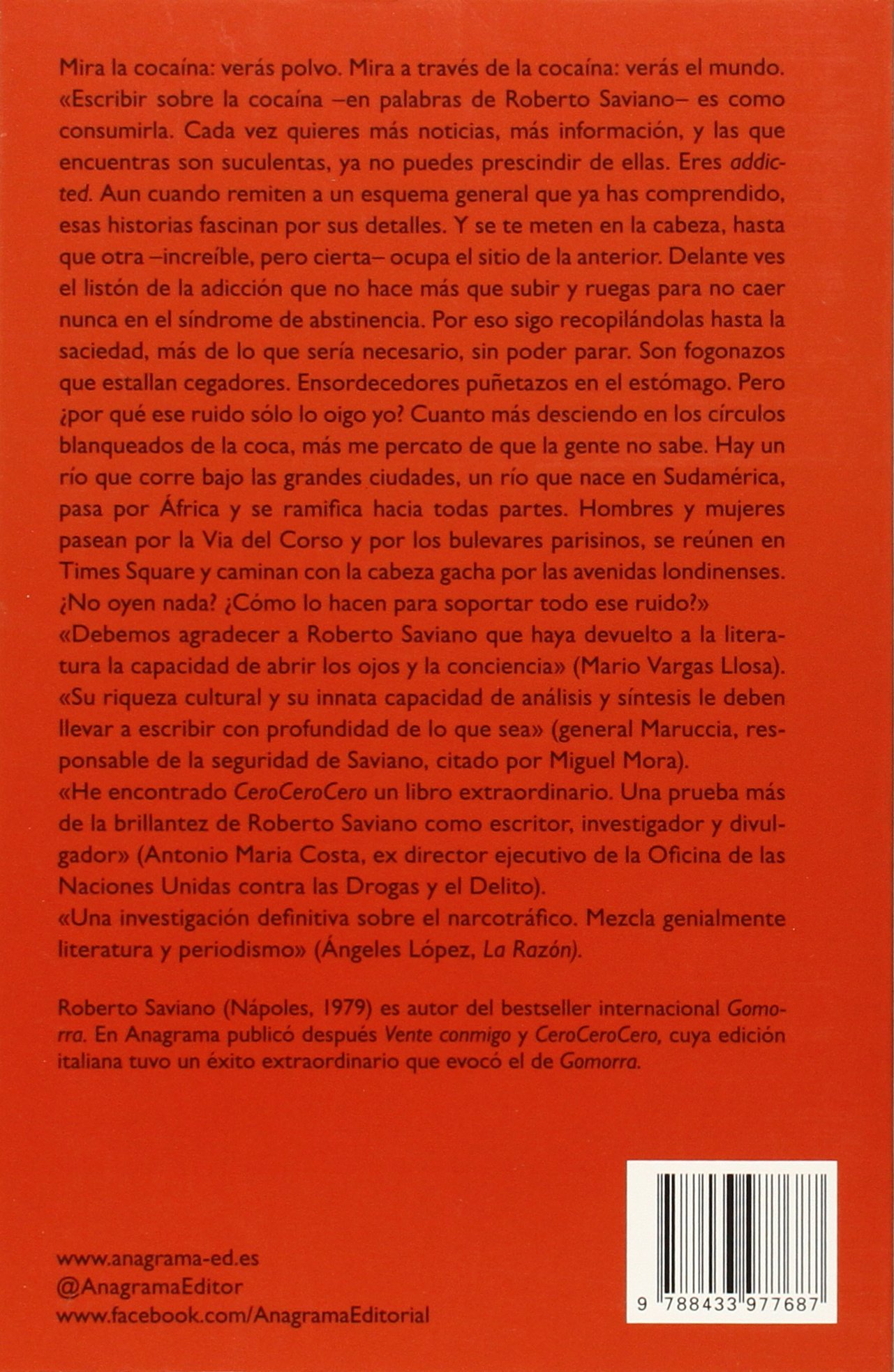 Cero Cero Cero (spanish Edition): Roberto Saviano: 9788433977687:  Amazon: Books