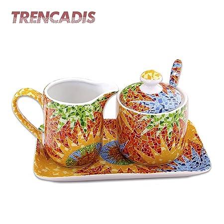 d08946c6403 Ceramic Sugar Bowl with Spoon