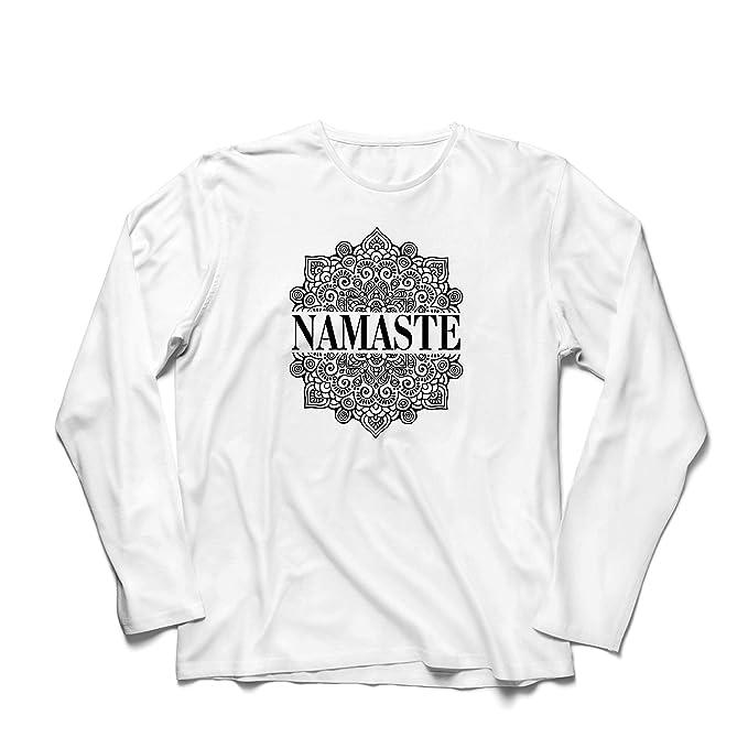 lepni.me Camiseta de Manga Larga para Hombre Meditación Yoga ...
