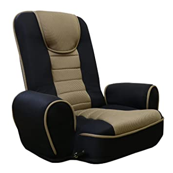 (DORIS) 座椅子 肘付き 【ラヴァンス カーキ】 リクライニング ガス圧 無
