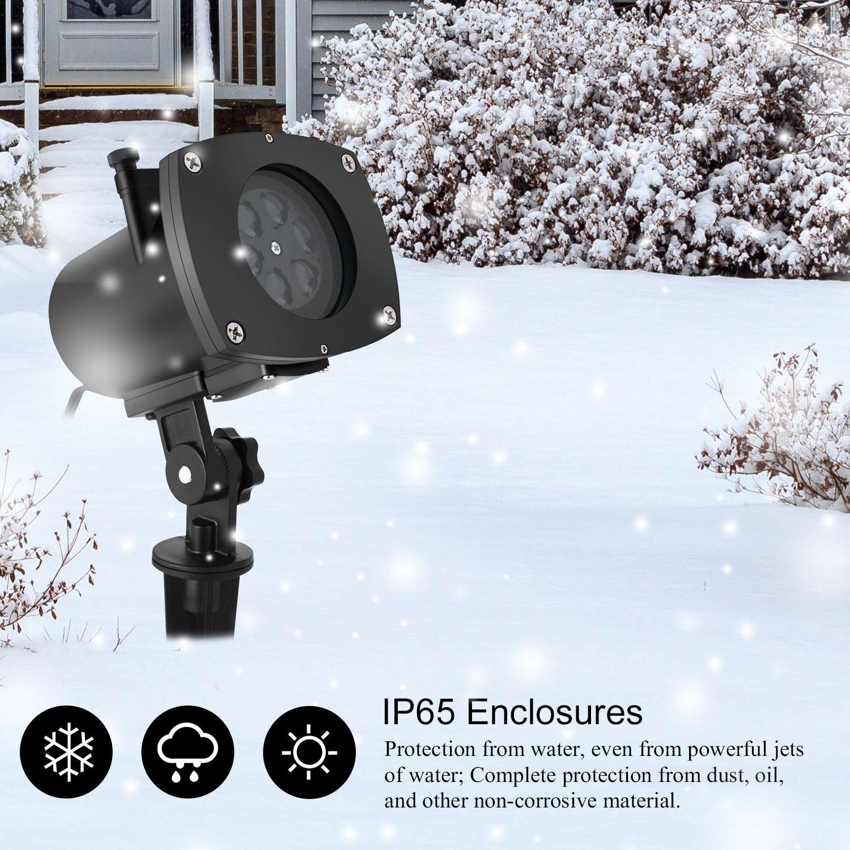 ICOCO Lampada LED Proiettore di 12 Lenti per Festa Natale Halloween Luce Decorative Interne o Esterne Impermeabile IP65
