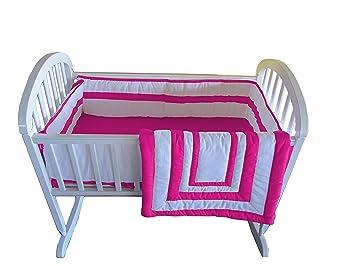BabyDoll Modern Hotel Style Cradle Bedding set Grey