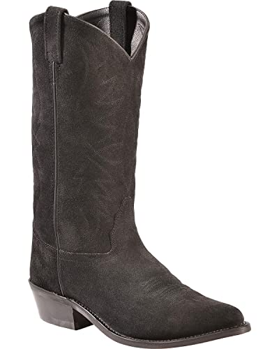 f847a524d02 Old West Men's Roughout Suede Cowboy Boot Pointed Toe