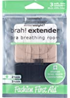 Brah! Extender: Bra Extender Band Breathing Room- Pack of 3 (White, Beige, Black)