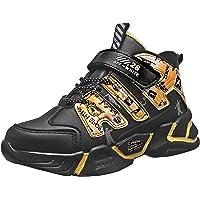 KRONJ Zapatillas de Deporte de Alta para Niños, Forro Cálido Zapatos de Gimnasia 28-39