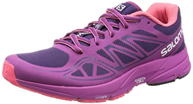 Salomon Women's Sonic Aero W Running Shoe, Cosmic Purple/Azalee Pink/Madder  Pink
