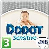 Dodot Sensitive Couches pour bébé Taille 3 (2 paquets de 74 couches)