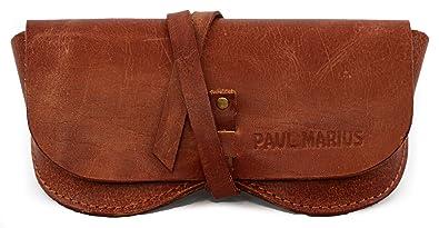 L'ETUI À LUNETTES en cuir souple esprit Vintage convient pour tous formats de lunettes PAUL MARIUS oaVDEw4w