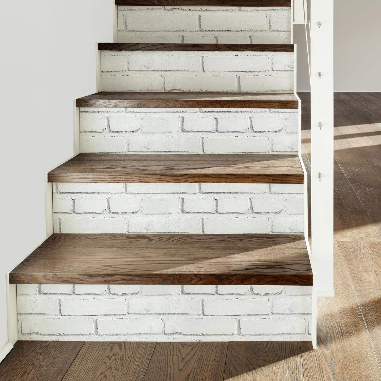 Vinilo Decorativo Pared [7PD1G2SZ] brick blanco