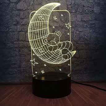 3D Light Night lamp Romantic 3D RGB LED Baby Lamp 7 Colors Changing Sleep Night Light Atmosphere BedroomKids GiftDecoration