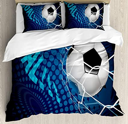 Amazon Com Usophia Soccer 4 Pieces Bed Sheets Set Twin Size