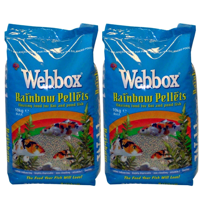 Nourriture pour carpes Koï et tous les poissons d'étang, pastilles flottantes Webbox de 20kg Pets Choice