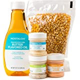 Nostalgia KPK400 Hot Air & Kettle Kit, 3 Seasonings, Oil, Popcorn Kernels, Pack of 1