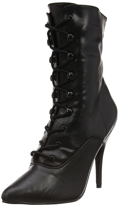 Pleaser Seduce-1020, Botines para Mujer38 EU|Negro (Blk Faux Leather)