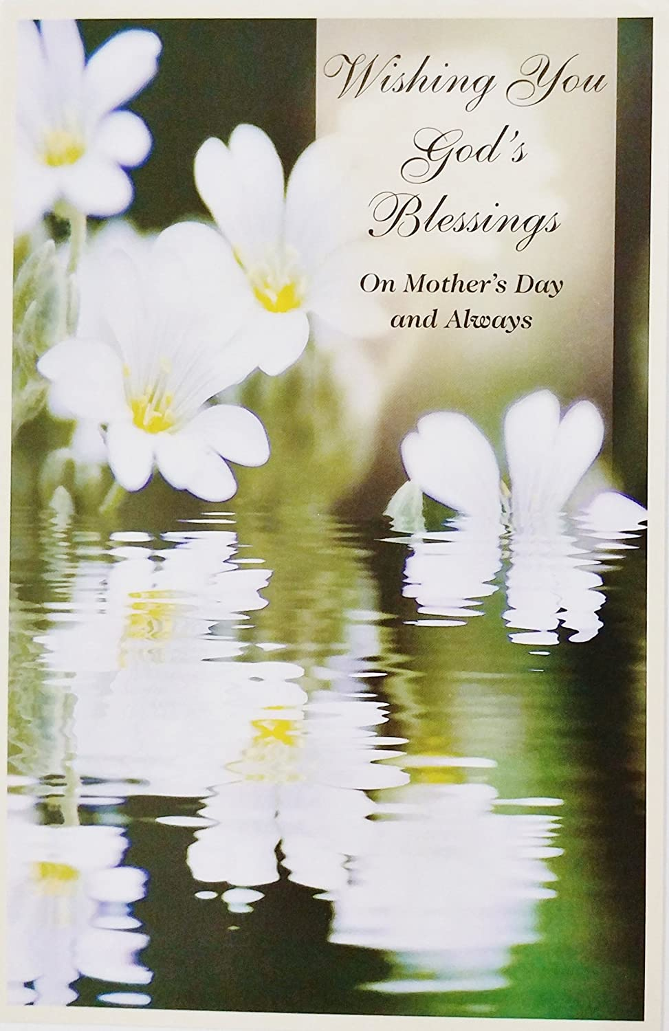 Amazon Com Wishing You God S Blessings On Mother S Day Religious Greeting Card With Thoughts Of You Office Products