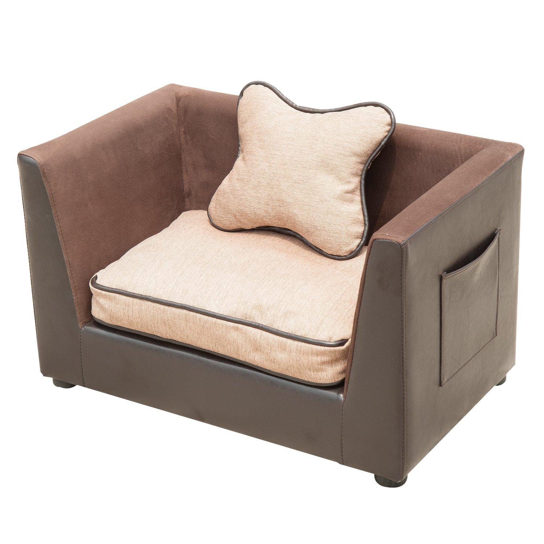 Affordable outsunny divano sofa lettino letto di lusso per cani gatti animali domestici in pelle - Divano letto piccole dimensioni ...