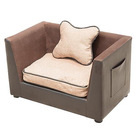 Outsunny - Divano sofa lettino letto di lusso per cani gatti ...