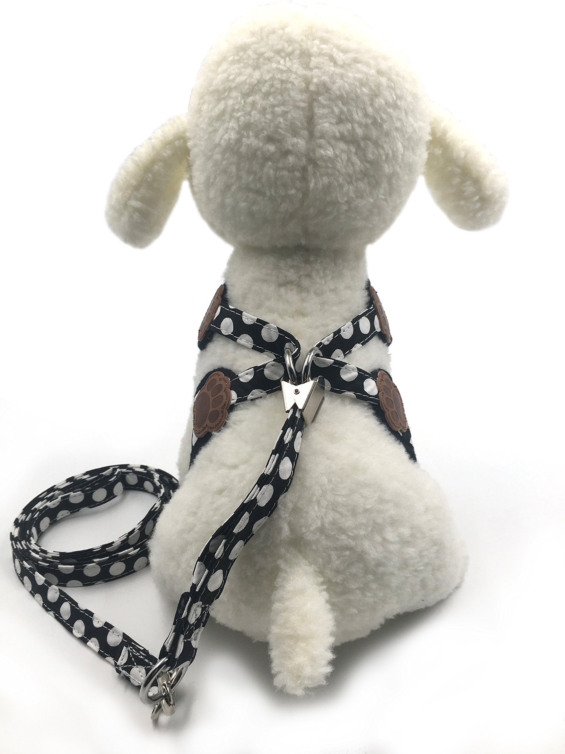 Puppy Harness and Leash for Small Dog Soft Mesh Pet Vest Black XS by KOOLTAIL (Image #6)