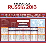 Fixget Wall Chart Poster, Russia 2018 World Cup Stickers - 80 x 53 cm World Cup Poster
