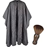 FaHaner Haircut Cape 57 65 inch and Neck Duster Set Barber Hairbrush and Salon Hairdresser Cape with Adjustable Snap…
