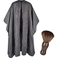 FaHaner Haircut Cape 57 65 inch and Neck Duster Set Barber Hairbrush and Salon Hairdresser Cape with Adjustable Snap Closure Extra Long Cape 145 165cm Perfect for Hairstylists and Barbers