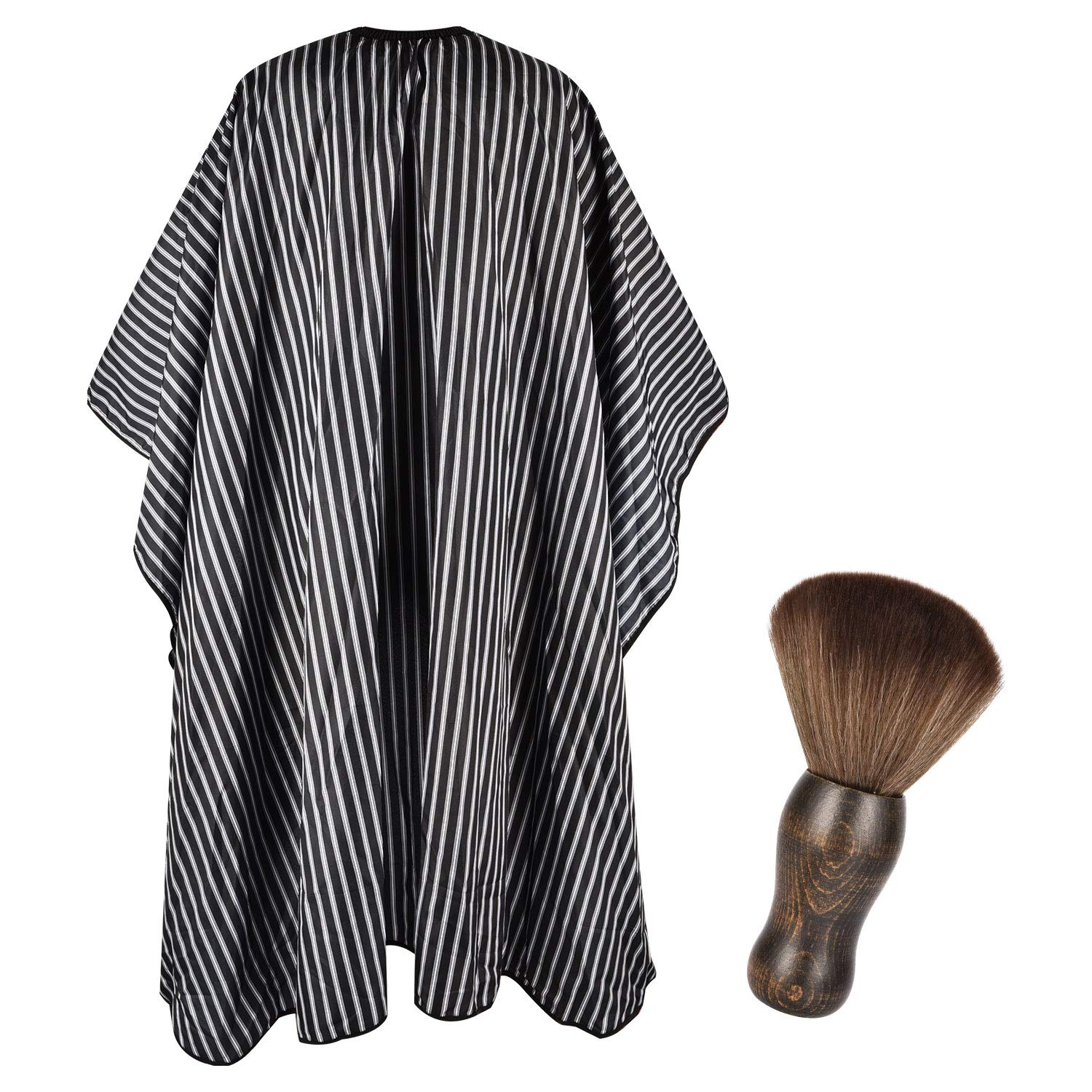 FaHaner Haircut Cape 57 65 inch and Neck Duster Set Barber Hairbrush and Salon Hairdresser Cape with Adjustable Snap Closure Extra Long Cape 145 165cm Perfect for Hairstylists and Barbers by FaHaner