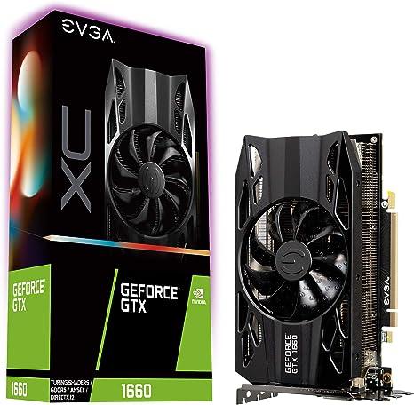 EVGA GeForce GTX 1660 XC, Overclocked, 2.75 Slot Extreme Cool, 65C Gaming, 6GB GDDR5, 06G-P4-1163-KR