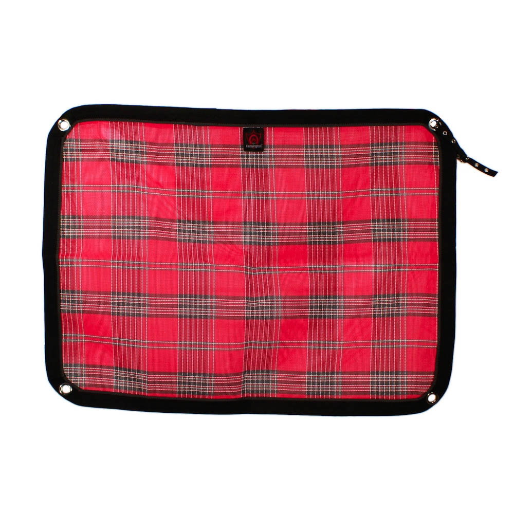 Deluxe Red Plaid Kensington Trailer Screen