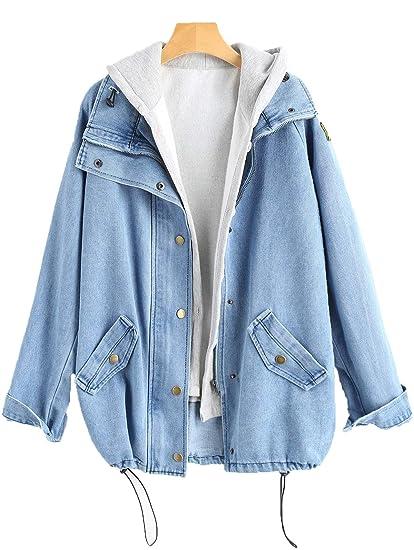 ZAFUL - Chaqueta - para Mujer Azul Claro XL: Amazon.es: Ropa ...