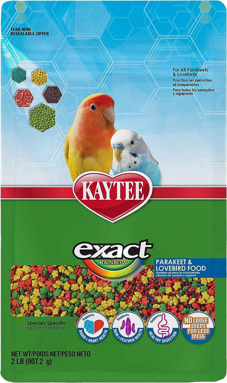 Kaytee Exact Rainbow Parakeet & Lovebird Food, 2-Pound