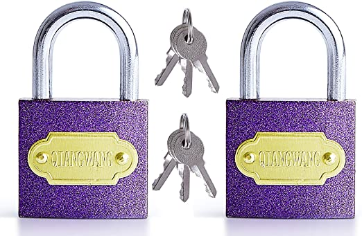 Gym or School Locker and Luggage 3 Piece Fleymu Brass Small Padlocks with Key High Security Pad Lock Shackle Small Anti Cut Brass Suitcase Lock Set Best Used for Storage Units Sheds Garages