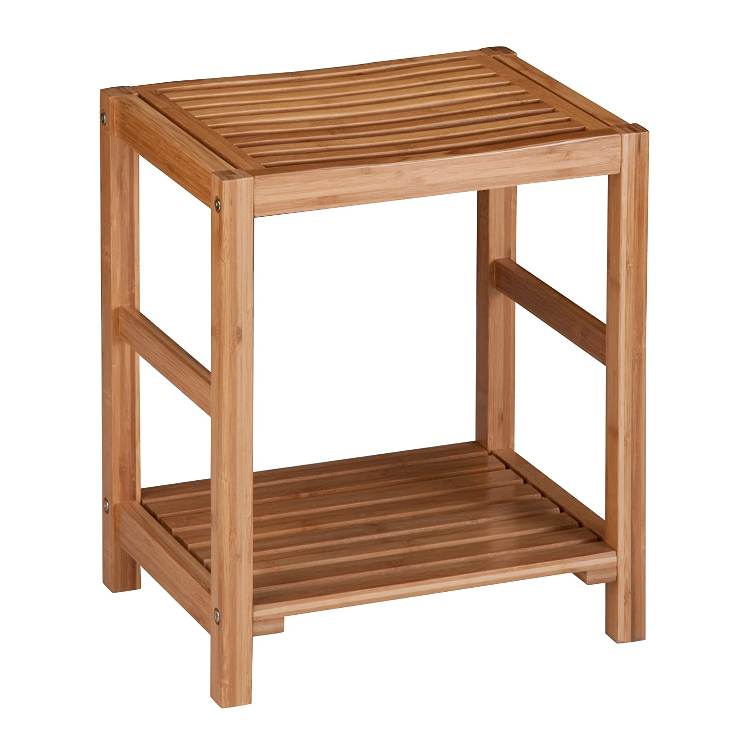 Honey-Can-Do BTH-02100 Bamboo Spa Bench with Contoured Seat, 12.6