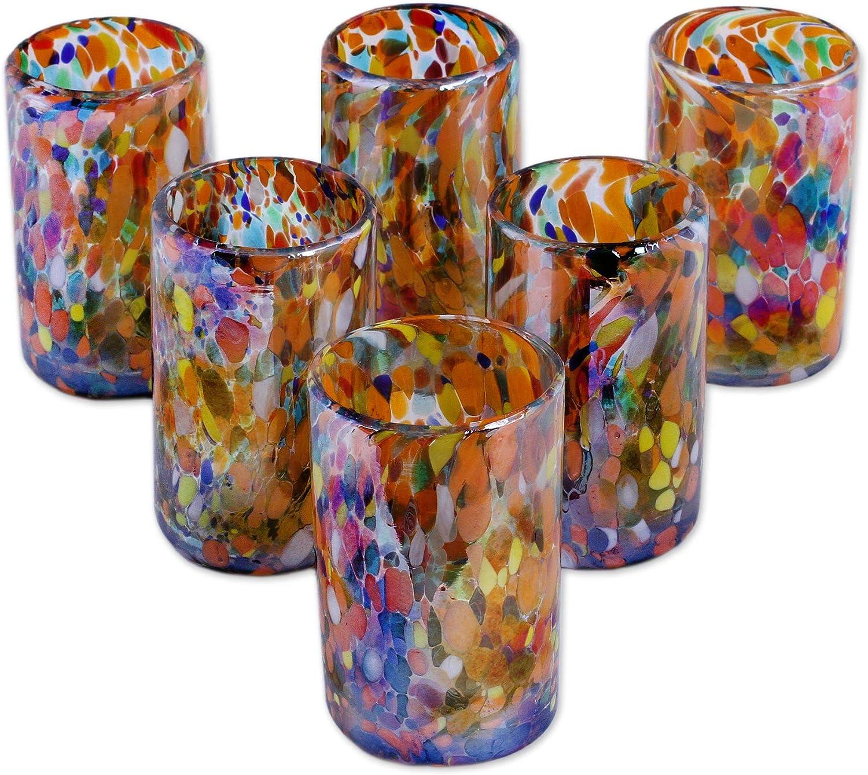 Confetti Festival 28 Oz Novica Hand Blown Recycled Glass Confetti Glass Carafe Home Kitchen Decorative Pitchers