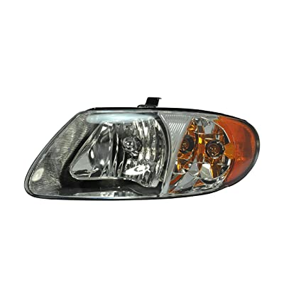 Driver Side Headlight Head Light Lamp for 2001-2007 Chrysler Town & Country, Chrysler Voyager, Dodge Caravan CH2502129 4857701AC - INCLUDES BULBS: Automotive