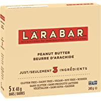 Larabar Gluten Free Peanut Butter Fruit and Nut Energy Bar, 5-Count, 240 Gram