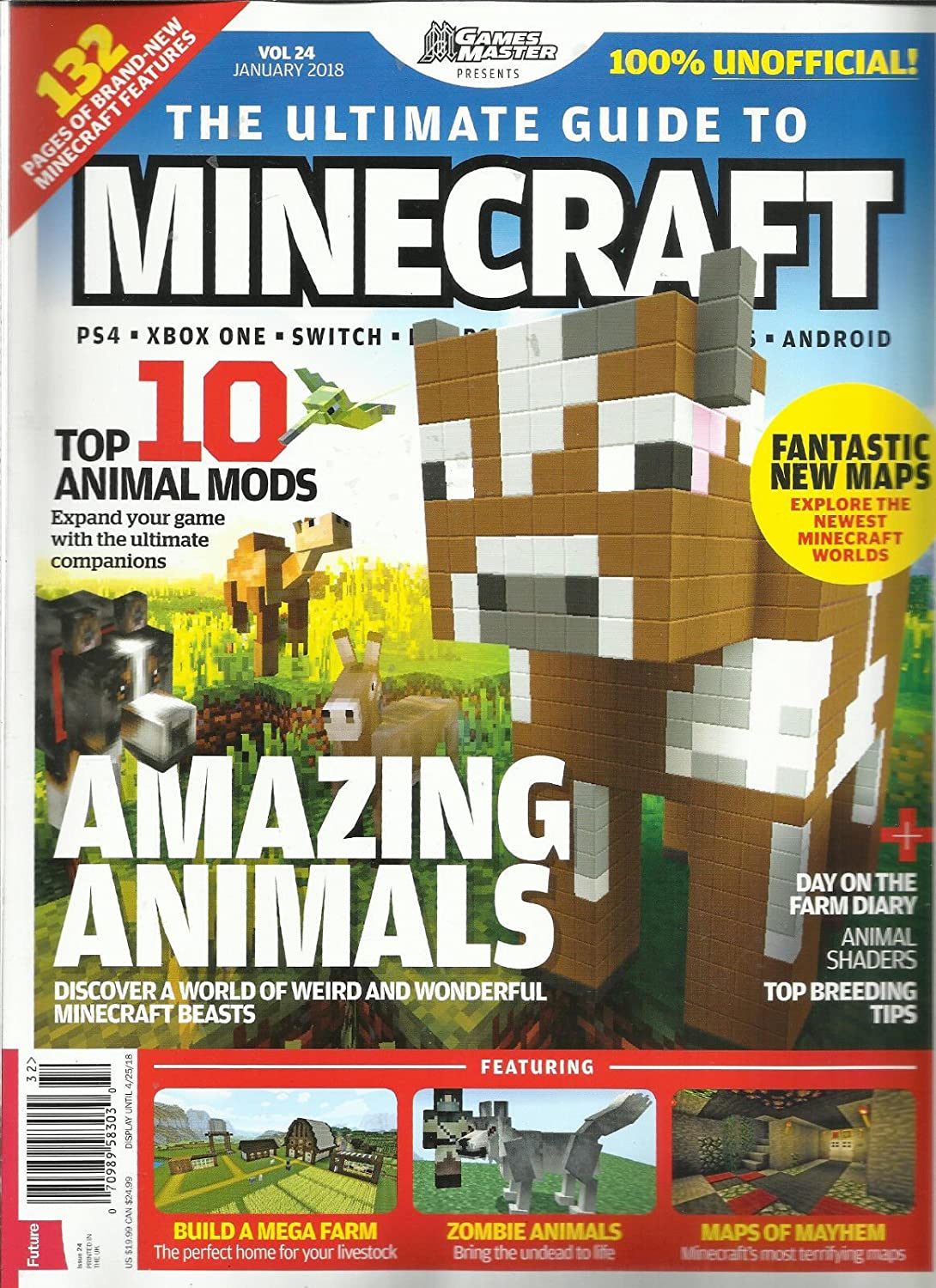 GAMES MASTER PRESENT, THE ULTIMATE GUIDE TO MINECRAFT, JANUARY, 2018 VOL. 24 s3457