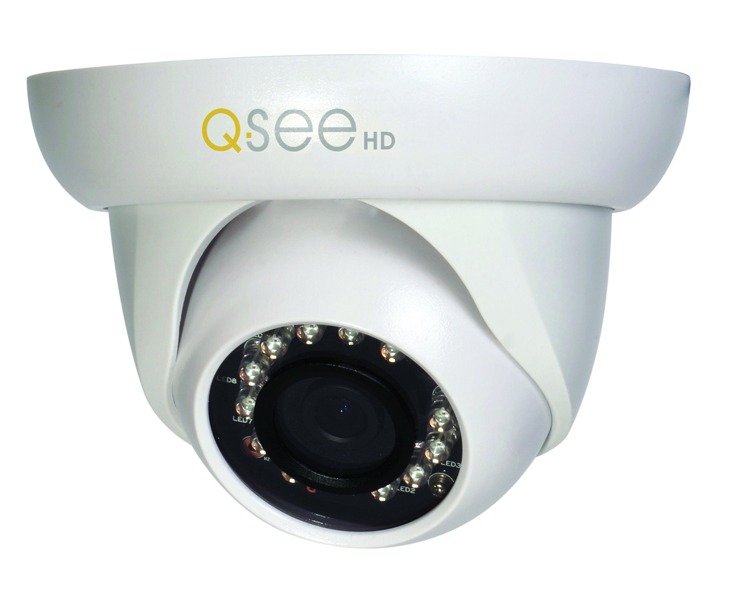 Q-See QCA7202D 720p High Definition Analog, Plastic Housing, Dome Security Camera (White)