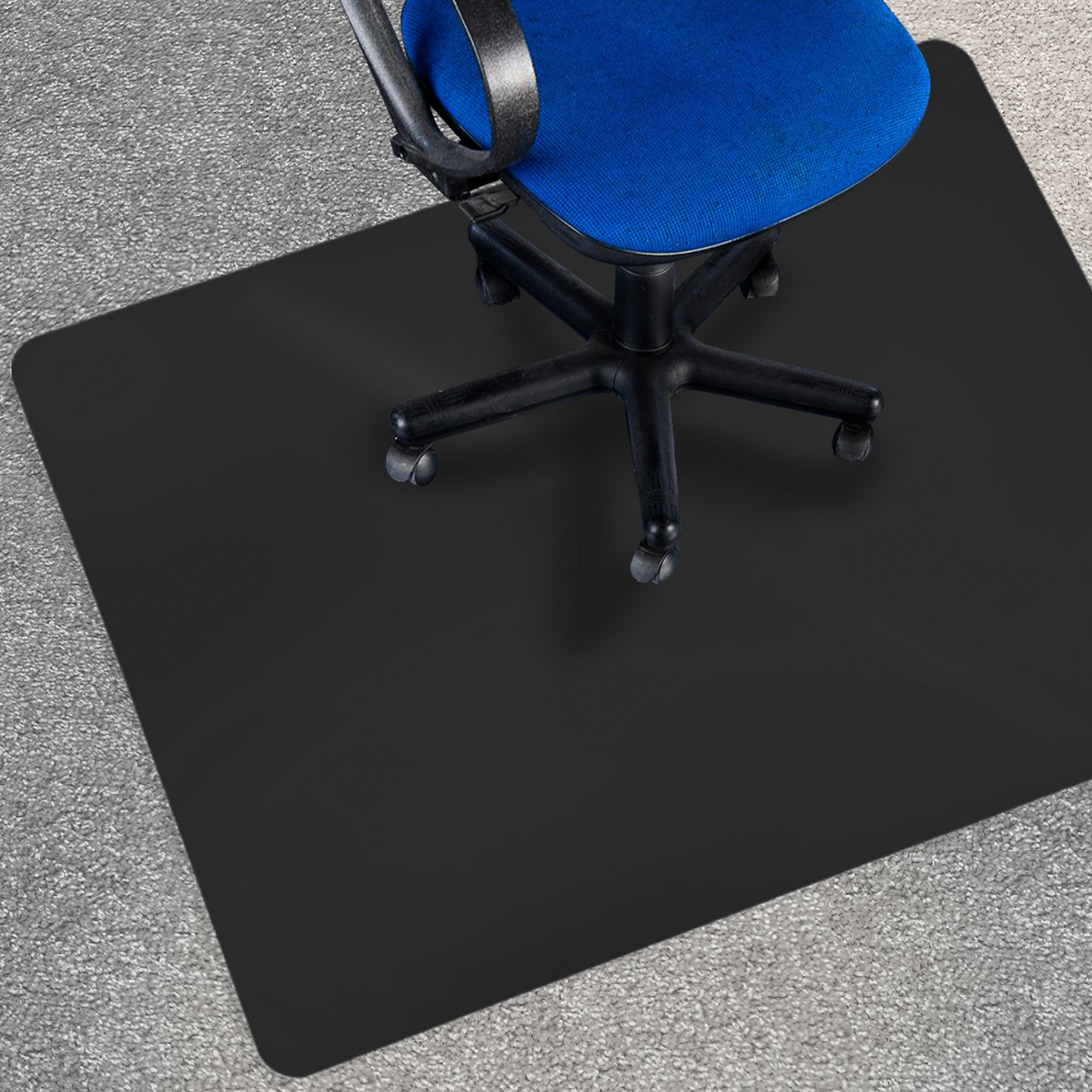 office marshal black polycarbonate office chair mat 36 x 48