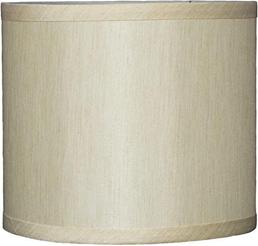 Urbanest Faux Silk Drum Lampshade 8 Inch By 8 Inch By 7 Inch Cream Spider Fitter Amazon Com