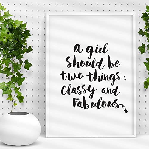 Amazon.com: Coco Chanel quote Typography Poster A Girl ...