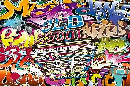 Amazon com : Daniu Old School Photo Background 80's Party