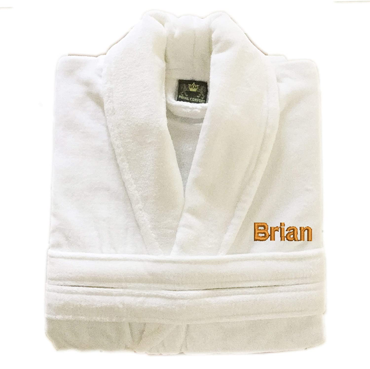 35b63a9fce Amazon.com  Personalized Monogrammed Turkish Cotton Terry Velour Bathrobe   Handmade