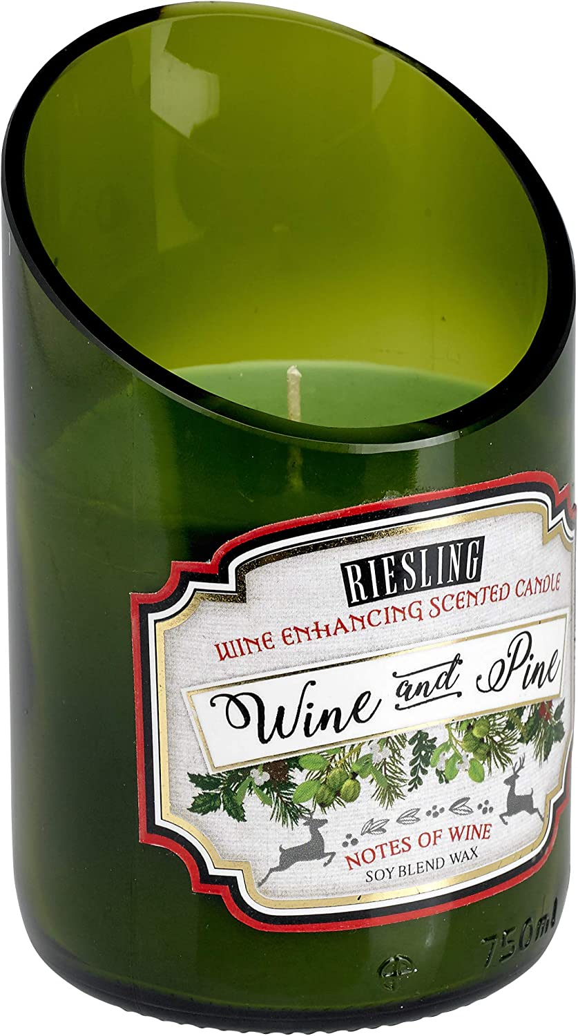 Home Locomotion 12010883 Wine &amp Pine Riesling Scented Candle, Multicolor